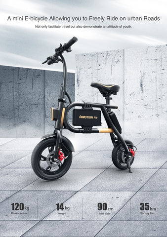 INMOTION E-BIKE P1F Folding Electric Scooter Mini Style IP54 APP Supported 30km/h Electronic Bike - JustPeri - Drive Your Destiny