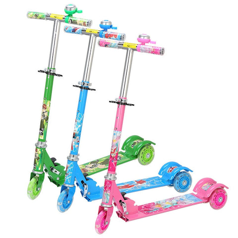 Colorful Printed Height Adjustable Kids Scooter - JustPeri - Drive Your Destiny