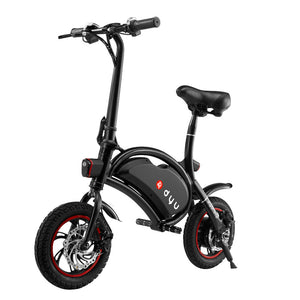 Smart portable electric bike folding Bike Mini Bicycle Deluxe DYU Electric bisiklet Rear Disc Brake Waterproof 12 Inch Wheel - JustPeri - Drive Your Destiny