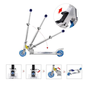 Aluminum Height Adjustable Kick Scooter For Kids