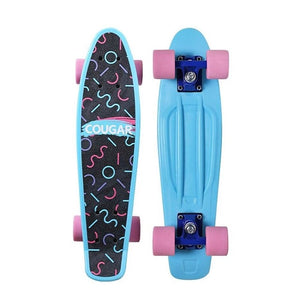 Cool Arch Designed Four Wheel Plastic Longboard