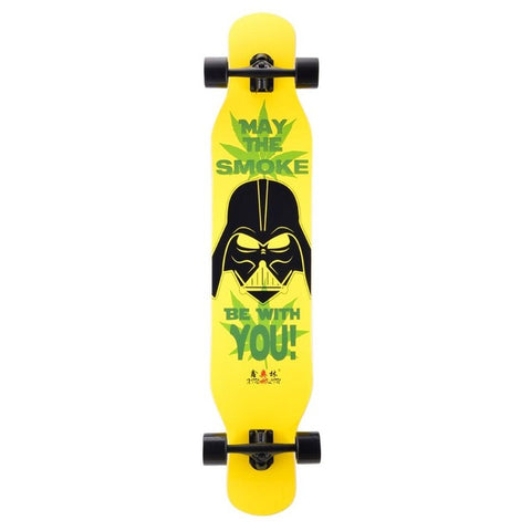 Image of Multicolor Double Rocker Unisex Longboard - JustPeri - Drive Your Destiny