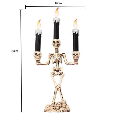 LED Halloween Skull Candles, Skeleton Hand Holder- House of the Dead Collection - JustPeri - Drive Your Destiny