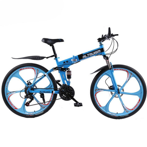 21-Speed Electric Foldable Mountain Bikes With Dual Disc Brake - JustPeri - Drive Your Destiny