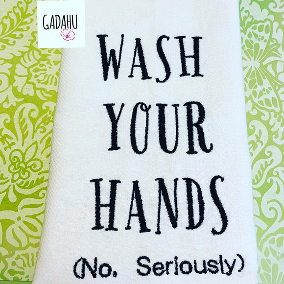 Wash your hands Machine Embroidery Design 5x7 Instant Digital Embroidery Design