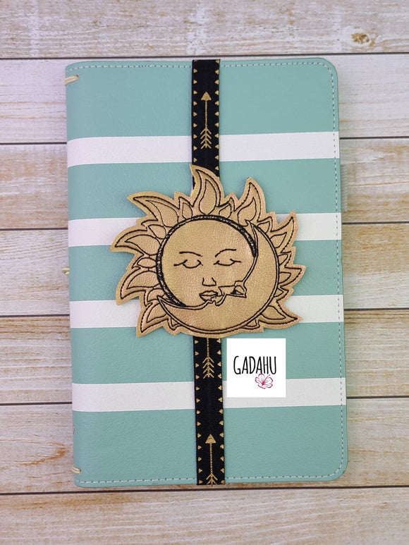 Sun Moon Planner Bookmark ITH Embroidery design 4x4
