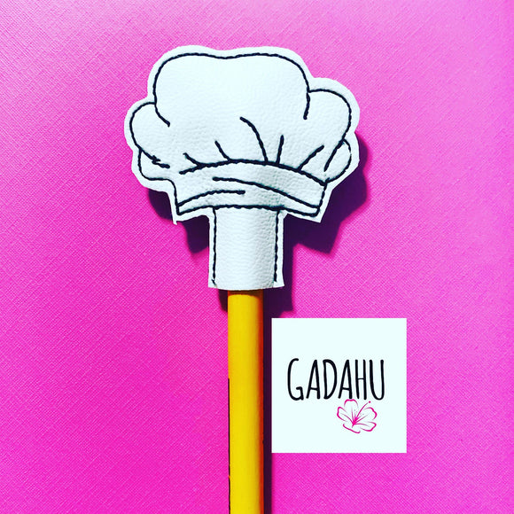 Chef hat Pencil Topper ITH Embroidery design