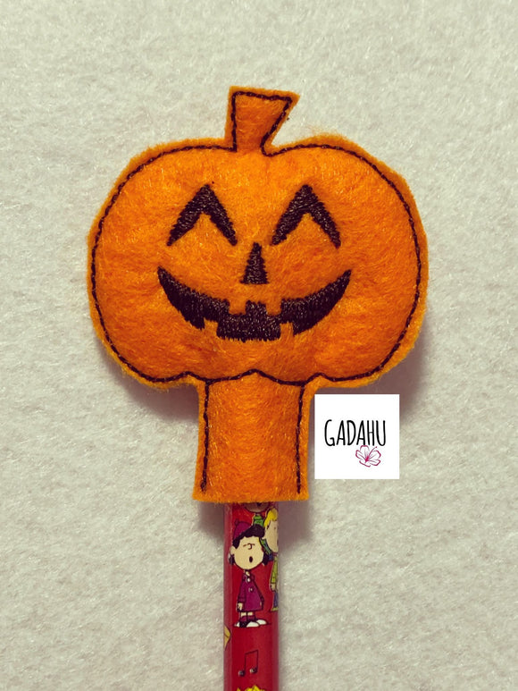Pumpkin Pencil Topper ITH Embroidery design