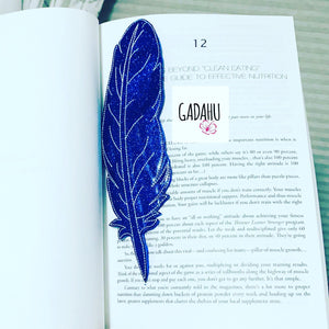 Feather bookmark ITH Embroidery design