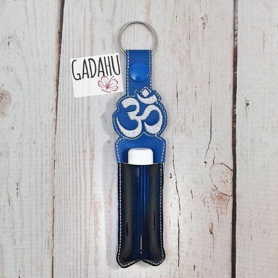 OM Symbol Chap stick Holder Machine Embroidery Design