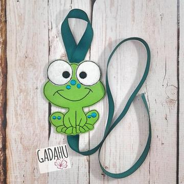 Frog Bow Holder ITH Embroidery design