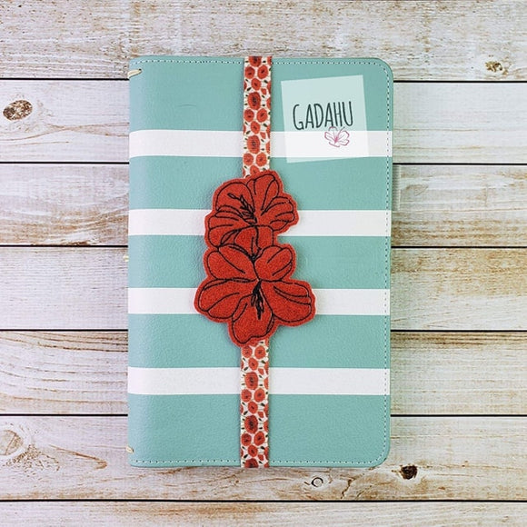 Flowers Planner Bookmark ITH Embroidery design 4x4