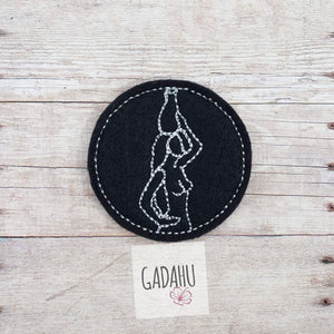 Aquarius Girl Zodiac feltie ITH Embroidery design file