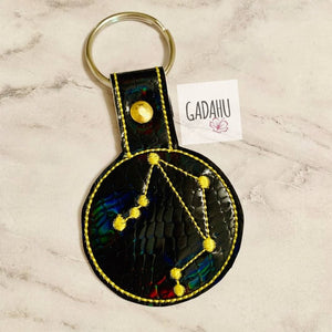 Libra Snap tab Key Fob ITH Embroidery Design file