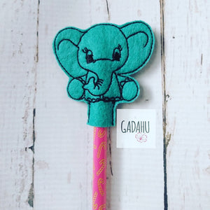 Cute Elephant Pencil Topper ITH Embroidery design