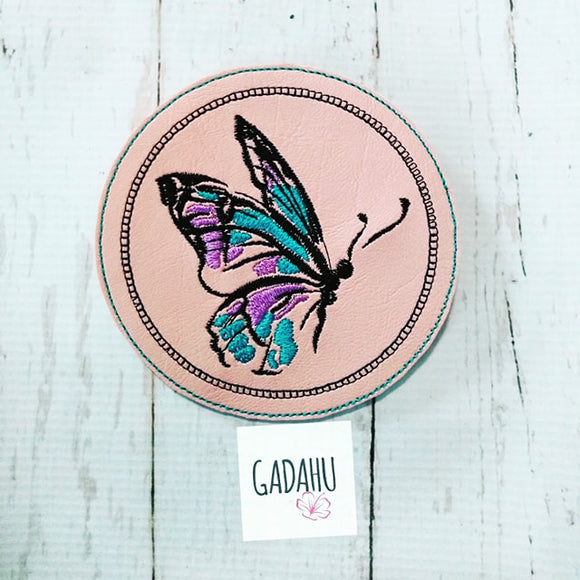 Butterfly Coaster ITH Machine Embroidery design file