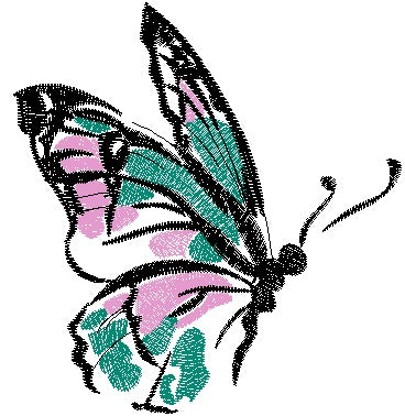 Butterfly Machine Embroidery Design 4x4 5x7 Instant Digital Embroidery Design
