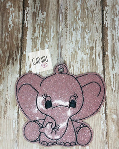 Cute Elephant Luggage Tag ITH Embroidery design