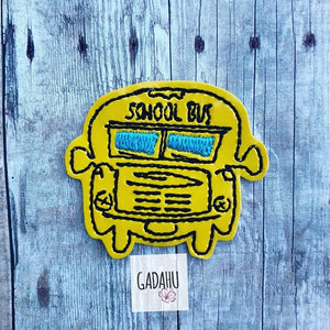 School Bus feltie ITH Embroidery design file