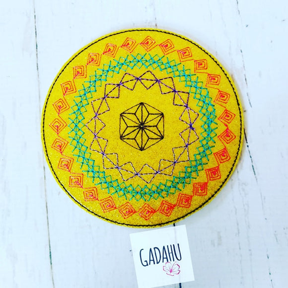 Colorful Coaster ITH Machine Embroidery design file
