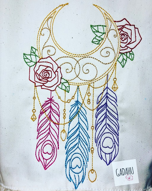 Dreamcatcher Machine Embroidery Design 4x4 5x7 Instant Digital Embroidery Design