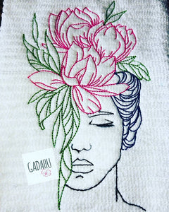 Flowers Machine Embroidery Design Digital file. Two Sizes 4x4/5x7