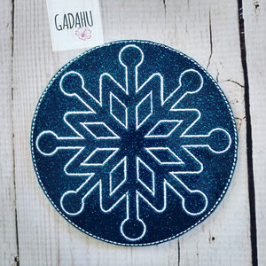 Snowflake Coaster ITH Machine Embroidery design file