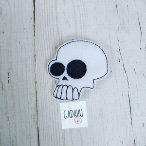 Cool Skull feltie ITH Embroidery design file