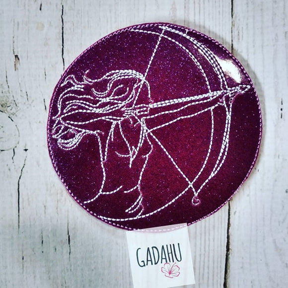 Sagittarius Girl Coaster ITH Machine Embroidery design file