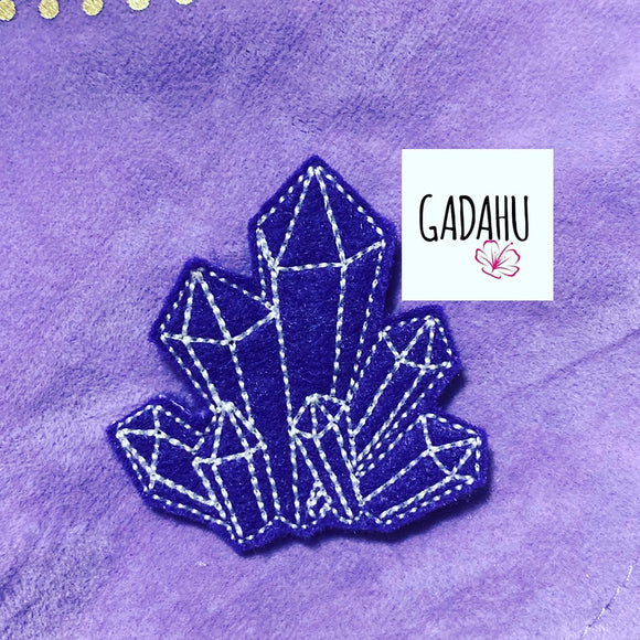 Crystals feltie ITH Embroidery design file
