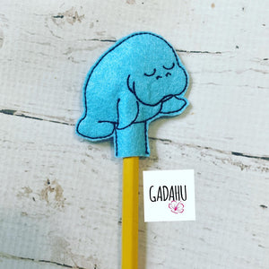 Manatee Pencil Topper ITH Embroidery design