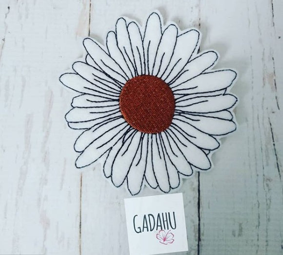 Daisy Flower Coaster ITH Machine Embroidery design file