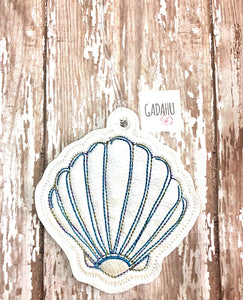 Shell Luggage Tag ITH Embroidery design