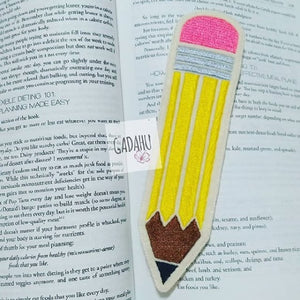 Pencil bookmark ITH Embroidery design