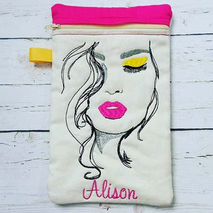 Beautiful Woman Face Machine Embroidery Design 5x7 6x10
