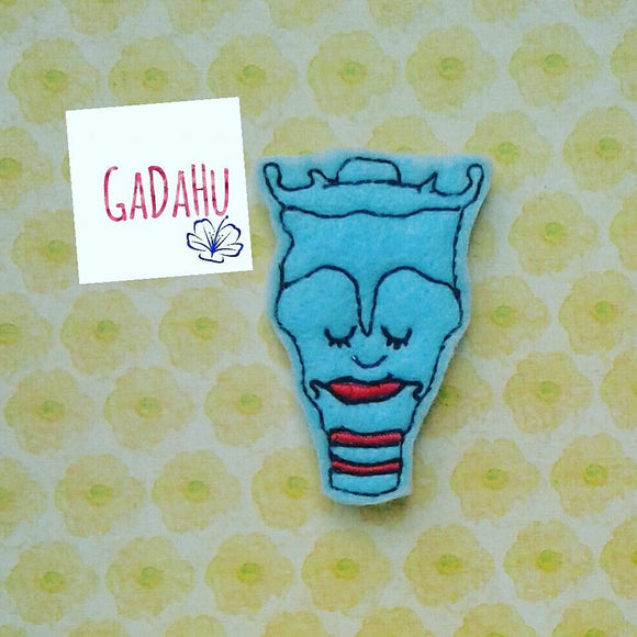 Larynx feltie. Embroidery Design 4x4 hoop Instant Download. Felties. Anatomy feltie