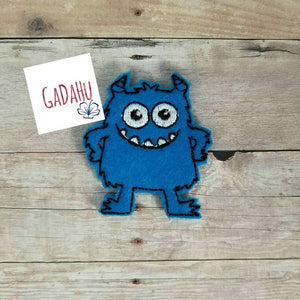 Cute Little Monster feltie. Embroidery Design 4x4 hoop Instant Download