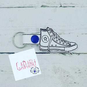 Sneaker Key Fob/ Snap Tab Embroidery Design