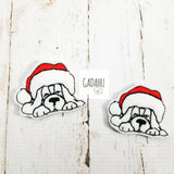 Christmas Dog feltie ITH Embroidery design file