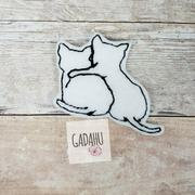Cats feltie ITH Embroidery design file