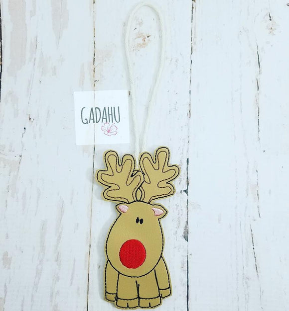 Reindeer Ornament Machine Embroidery Design 4X4