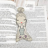 Yoga Girl bookmark ITH Embroidery design 4x4 / 5x7