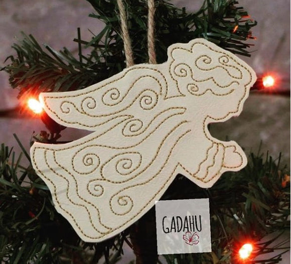 Angel Ornament Machine Embroidery Design 4X4