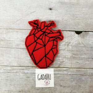 Anatomical Heart feltie ITH Machine Embroidery design file