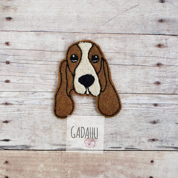 Basset Hound Dog Breed feltie. Embroidery Design 4x4 hoop Instant Download. Felties.