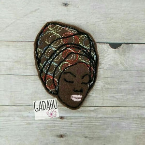 African American Girl feltie ITH Embroidery design file