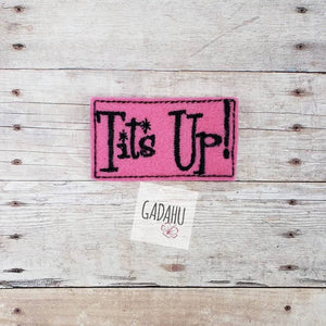 Tits Up feltie ITH Embroidery design file