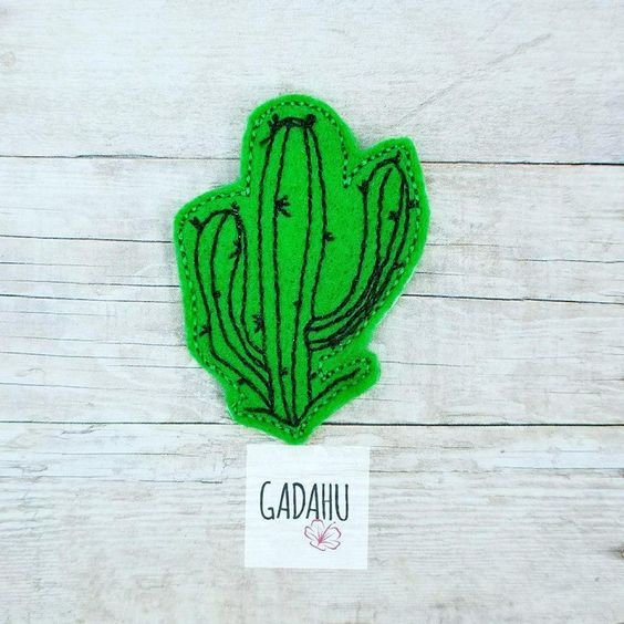 Cactus feltie ITH Embroidery design file