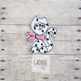 Cat with scarf feltie. Embroidery Design 4x4 hoop Instant Download. Felties. Animal feltie