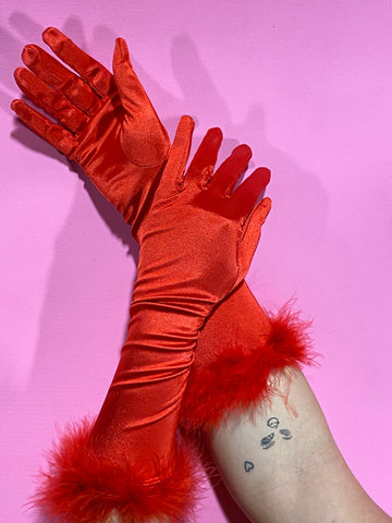 HOT PINK GLOVES